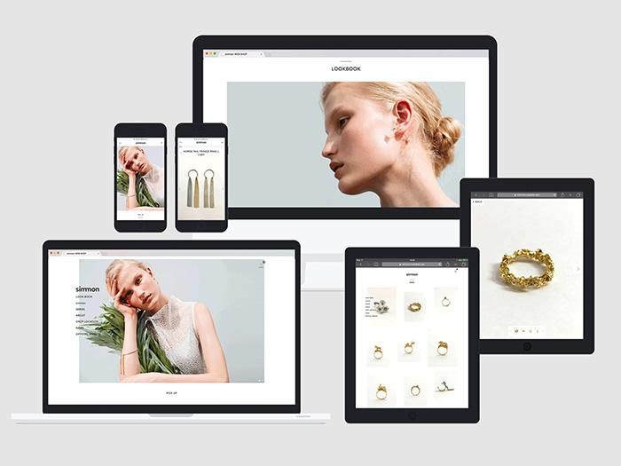 KATALOKoooを起用したウェブショップ、ギャラリーのデザイン例