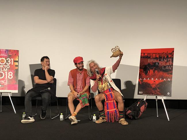東京国際映画祭2018トーク風景 左:ブリランテ・メンドーサ/中央:カワヤン・デ・ギア/右:キドラット・タヒミック